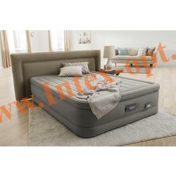 INTEX 64770 Двуспальная надувная кровать Dream Support Airbed 152х203х46см (со встроенным насосом 220В)