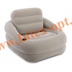 INTEX 68587 Надувное кресло ACCENT CHAIR 97х107х71см (серое)