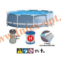 INTEX 28702 (28202)Бассейн каркасный круглый 305х76 см (с фильтр-насосом 220В)