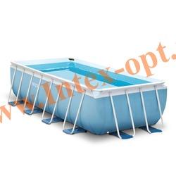 INTEX 28316 Бассейн каркасный прямоугольный 400х200х100 см (видео, фильтр-насос 220В, лестница)