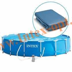 INTEX Чаша для круглых каркасных бассейнов Metal Frame 366х99 см