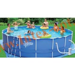 Summer Escapes Бассейн на опорах 549х122 см (фильтр-насос 5,7м3/ч 220В, лестница, настил, тент, набор для чистки DELUXE, скиммер)