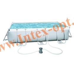 BestWay Бассейн на опорах прямоугольный 404х201х100 см (фильтр-насос 220В)
